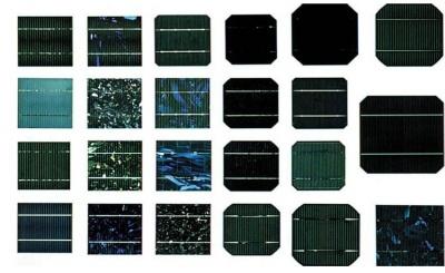 תאי סיליקון מהם מורכבים פאנלים סולאריים